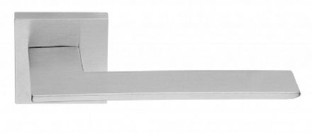Frascio 1500/50Q/SCP Blade Door Handle On Square Rose Satin Chrome